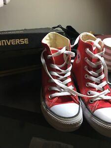 Red Converse Hi- Top (Size 6) | eBay