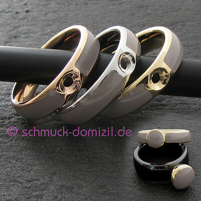 MelanO Twisted 56 Resin Ring Tracy Gr Edelstahl // Weiss AUSLAUFMODELL