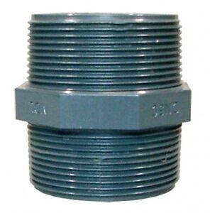Doppelnippel-m-AG-1-1-2-PVC-Doppel-Nippel-Aussengewinde-Fitting-Fittings