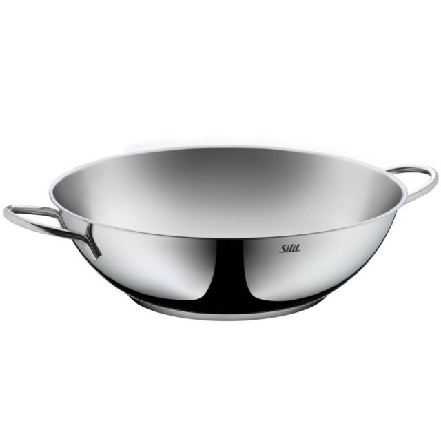 Silit Wok 32 Cm 21.3730.0472 Stainless Steel Easy Care 320 Mm Induction  Suitable
