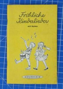 Froehliche-Kinderlieder-mit-Noten-Schneider-Buch-B19566