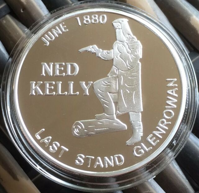 NED KELLY Coin Token .999 Silver 1oz Such Is Life Australia 1oz Medallion