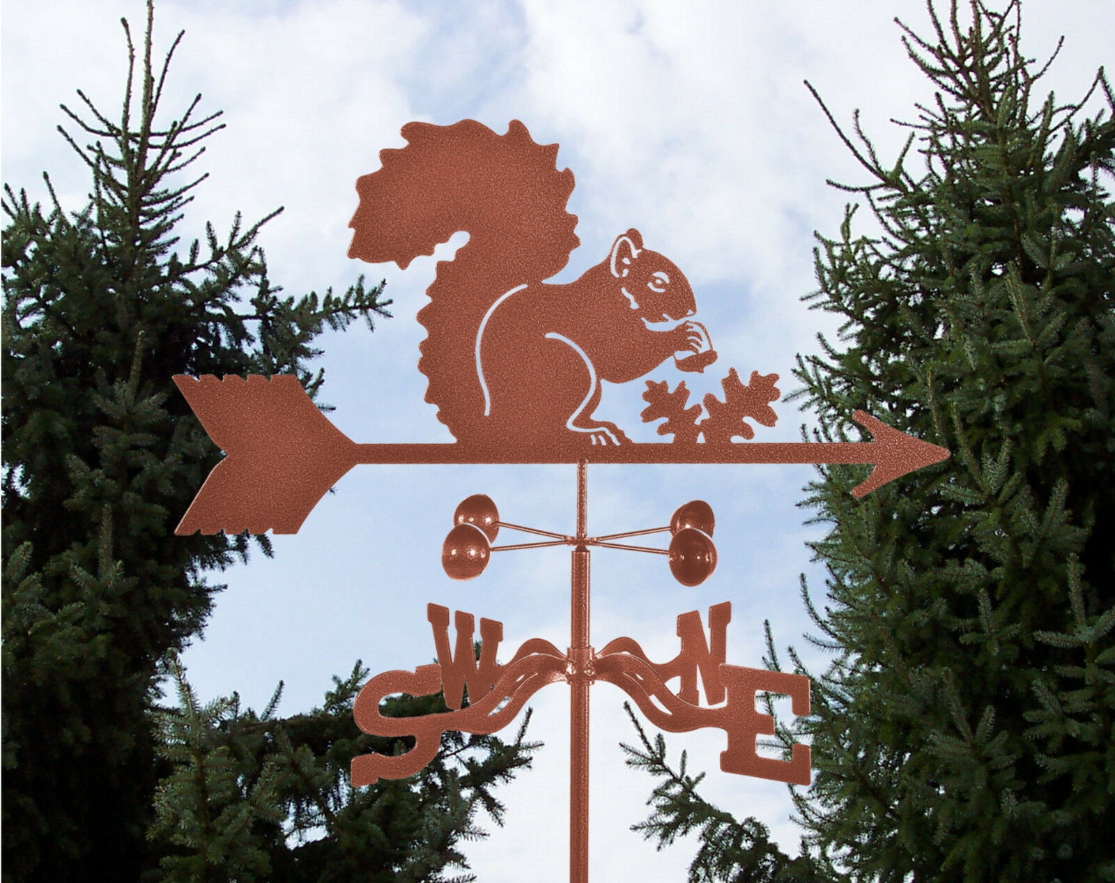 Squirrel Weathervane - Grey - Fox Weather Vane with Choice of Mount