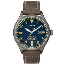 Timex Originals TW2P83800 Mens Waterbury Brown Leather Strap Watch RRP £79.99