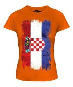Made in Croatia Country Flag and map Gift Tee Ladies T Shirt
