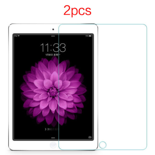 2Pcs 9H Tempered Glass Screen Protector Film For iPad 2//3//4 air mini Pro 10.5