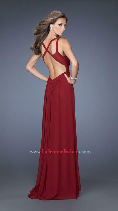 NWT WINE RED  ABBI VONN BY LA FEMME PROM PAGEANT FORMAL DRESS GOWN