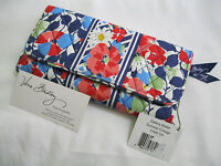 Vera Bradley Summer Cottage Gallery Wallet Clutch For Tote Purse Backpack