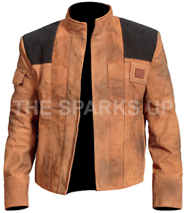 Han Solo A Star Wars Story Distressed Brown Suede Leather Jacket BEST OFFER