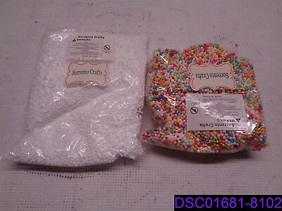 Humble Qty = 25 Packs 17 White Bags/8 Mixed Color We Have Won Praise From Customers Sorrento Crafts 2-4mm Foam Balls