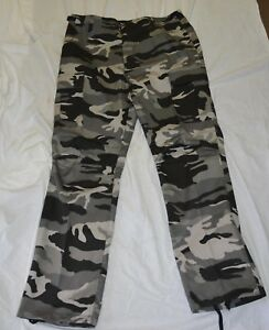 New-black-and-white-combat-style-pants-size-xx-large-bte74