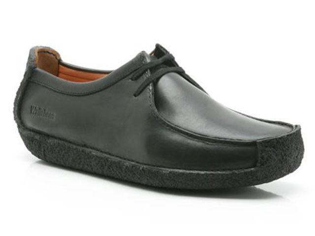 Clarks ORIGINAL Mens scarpa ** Natalie in pelle nera, casual scarpa Mens ** G 8f01ae