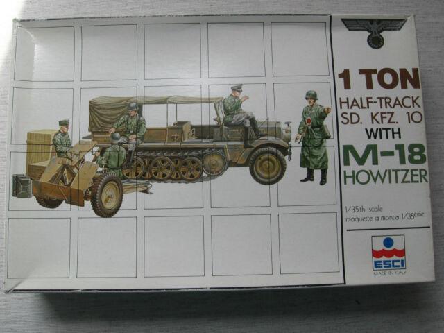 Esci 5008 1ton Half-Track Sd.Kfz10 with M-18 Howitzer 1:35  Neu und eingetütet