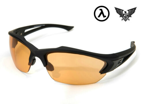 EDGE TACTICAL EYEWEAR ACID GAMBIT MATTE BLACK TIGER EYE VAPOR SHIELD LENS SG610