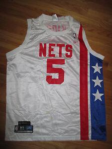 Reebok JASON KIDD No. 5 NEW JERSEY NETS (XL) Jersey RED WHITE & BLUE