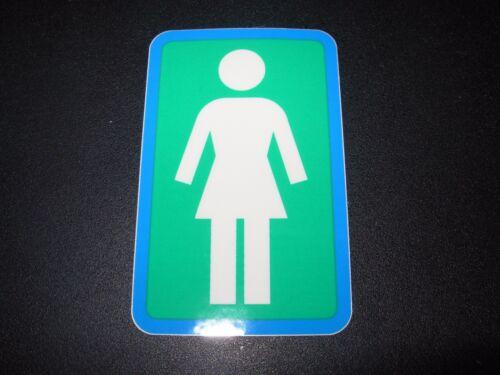 "GIRL SKATEBOARDS Blue Green Wh Classic logo Skate Sticker 3.25X2/"" helmets decal"