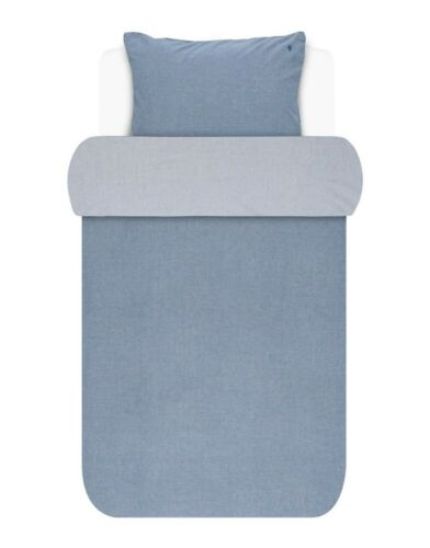 Marc O/'Polo Bettwäsche Chambray in Blue 135 x 200