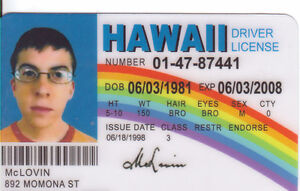 Id License From Ebay Drivers Super Collector Superbad Bad Plastic Mclovin Card