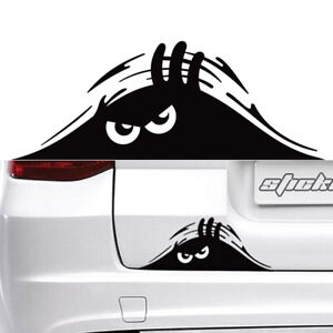 1-Black-Peeking-Monster-Funny-Cute-Sticker-Waterproof-Vinyl-Decal-For-Car-Window