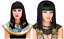 Cleopatra Egyptian Wig Ladies Women Queen Fancy Dress Black Gold Braided Hair