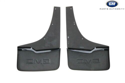 2014-2018 GMC Sierra Splash Guards Front /& Rear Molded White Frost Tintcoat OEM