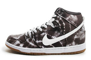 Nike DUNK HIGH PREMIUM SB Black White Tye Dye 685299-401 (425) Men's Shoes