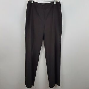 J Jill Dark Brown Women's Dress Slack Pants Size 10 Actual 32 x 32