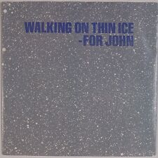 YOKO ONO: Walking On Thin Ice for John Lennon USA Geffen ORIG 45 w/ PS Beatles
