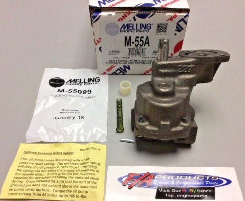Small Block Chevrolet High PRESSURE Standard Volume Melling M55A Engine Oil Pump