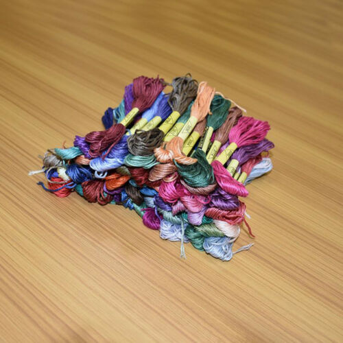50pcs 50colors Threads Cross Stitch Cotton Embroidery Thread Sewing Skeins Craft