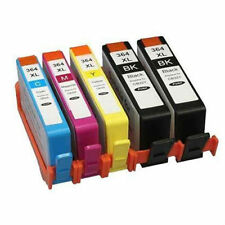 5 CARTUCCE PER HP 364 XL CON CHIP Officejet 4620 4622 Photosmart 5510 5515 5520