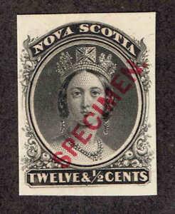 Nova-Scotia-13-Queen-Victoria-Proof-On-Card-Specimen-Mint-VF-1860