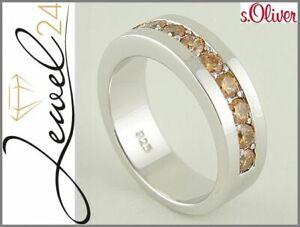 s-Oliver-Halb-Eternity-Ring-echt-Silber-925-Sterling-mit-Zirkonia-52-16-6-MM