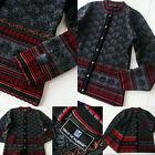 Women's size S small DALE OF NORWAY Black Gray Wool Norwegian Cardigan Sweater