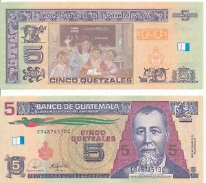 Guatemala-5-Quetzales-2008-UNC-Pick-116