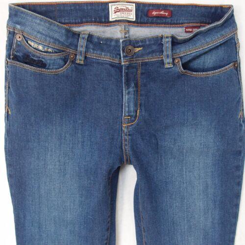 L32 Superdry W30 blu 10 Superskinny taglia Uk Stretch aderenti Jeans donna Oq7wBF1