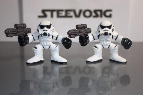 Star Wars Galactic Heroes IMPERIAL STORMTROOPER Lot Army Builder Masque Noir