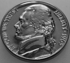 1963-P Jefferson Nickel Proof Nice No Problem Coin