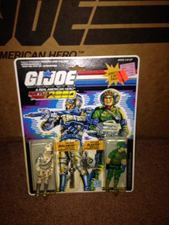VINTAGE 1987 G.I. JOE BATTLE FORCE 2000  AVALANCHE & BLASTER   <<<MOC
