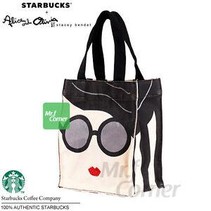 Image Is Loading Sa077 Starbucks Alice Amp Olivia Tote Bag 2017