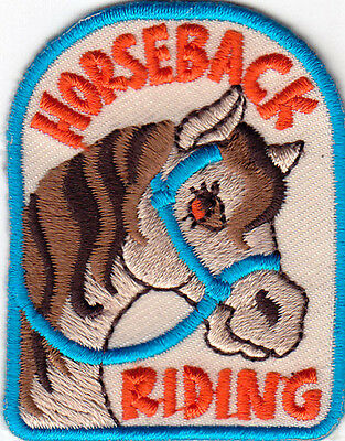 "/""HORSEBACK RIDING/"" ron On Embroidered Patch Western Southwest Horses"