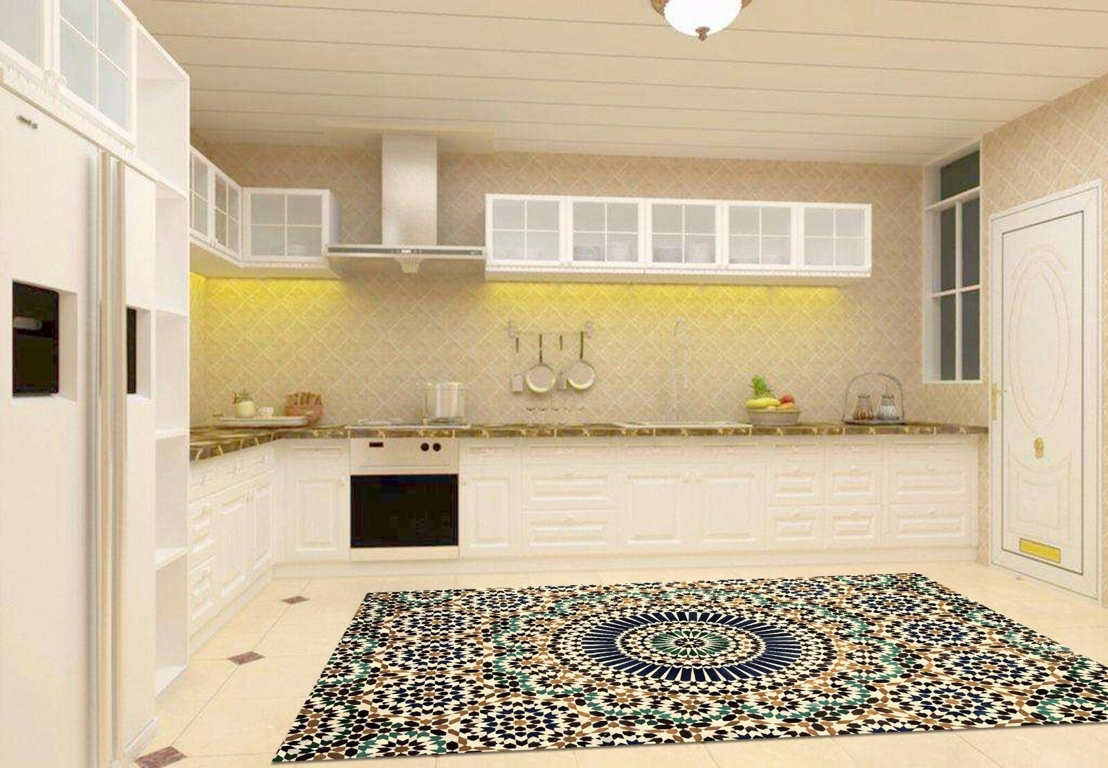 3D Pattern 665 Kitchen Mat Floor Murals Wall Print Wall AJ WALLPAPER AU Kyra