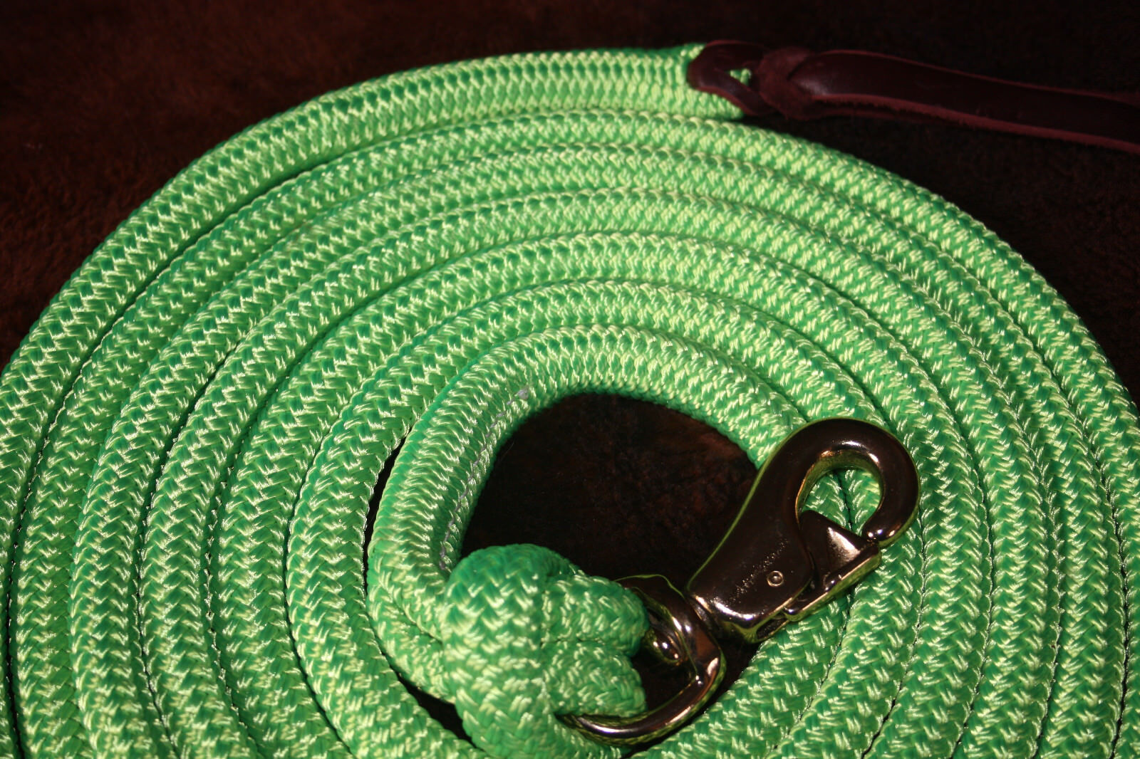 Horse Training 4-knot Thomey lead halter and 14-foot lead Thomey  Neon Grün 9db717