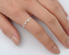 Silver Tiny Infinity Ring Sterling Silver 925 Plain Best Deal Jewelry Size 10
