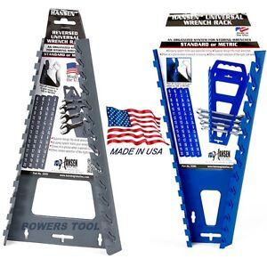Hansen-Universal-Wrench-Tray-Set-Organizer-Rack-Holder-Metric-SAE-Sticker-Labels
