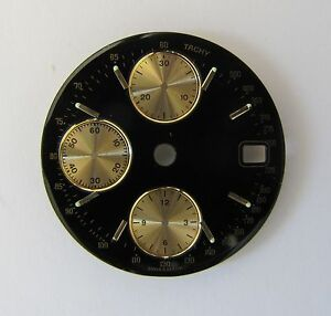 ETA 7750 chronographe dial, diameter 29,1mm, without brand name. NEW swiss made