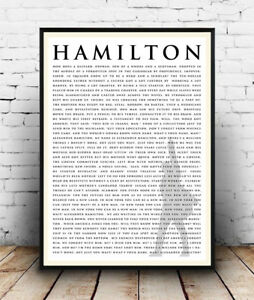 Lyrics Poster Quotes Hamilton Broadway Musical Poster Wall Art All Sizes