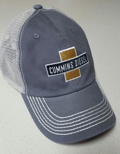 5c2b15ddd Dodge Cummins diesel trucker hat ballcap gray panel w/ white Mesh  adjustable new