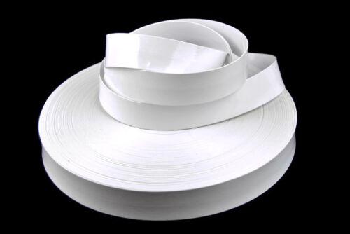 30mm italiano imitación cuero plano doblado cinta Recorte Cinta Correa Cinturón PU Vegano