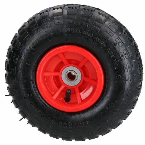 "10/"" Pneumatic Sack Truck Trolley Dolly Garden Cart Wheel 4.10//3.50-4 PAIR"